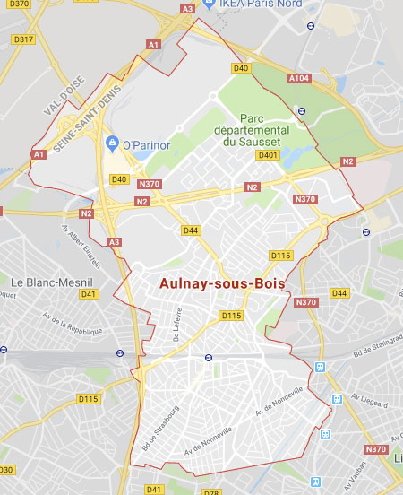 Carte d'Aulnay sous bois