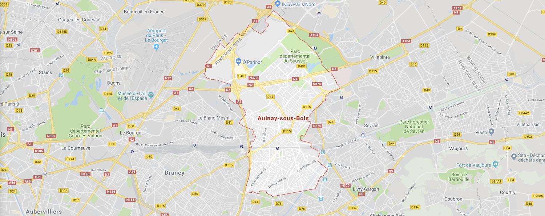 Plan d'Aulnay ss-bois